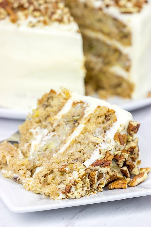 This classic Southern Hummingbird Cake is filled with pecans, bananas and…