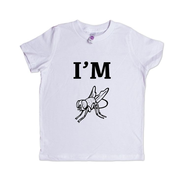I'm Fly Cool Hip Flies Animal Animals Insect Insects Bug Bugs Pun Puns Play On Words Funny SGAL9 Unisex Kid's Shirt