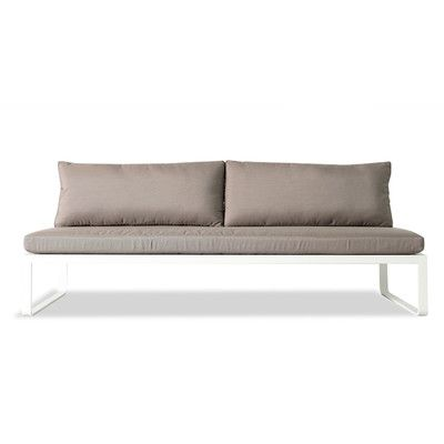harbour outdoor clovelly armless deep seating sofa with cushions fabric sunbrella taupe