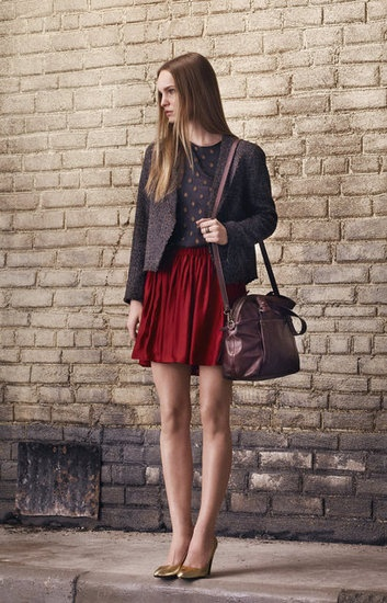 pair metallic shoes with deep colors