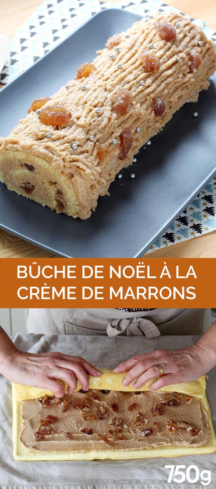 Une Bûche de Noël à la crème de marrons.