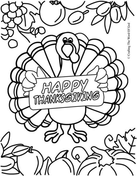 school turkey coloring pages - photo#1