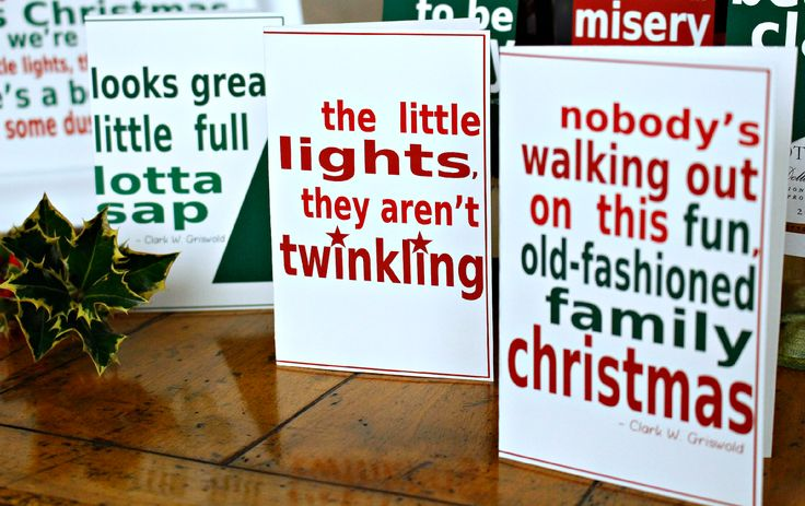 National Lampoons Christmas Vacation printable movie quote greeting cards - FREE!