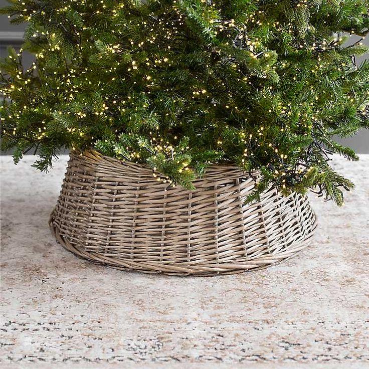 Natural Rattan Tree Collar Tree collar, Christmas tree