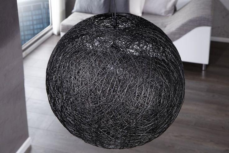 Dizajnová veľká elegantná lampa Cocoon Big Black