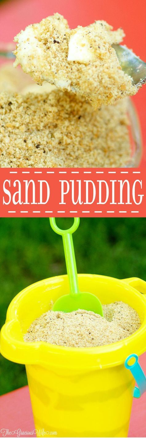 Sand Pudding Recipe - a fun no bake summer dessert recipe that's great for a picnic or party.  This pudding is amazing! I make all pudding using this recipe now!