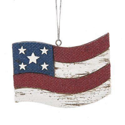 August Grove Old Glory Flag Hanging Figurine