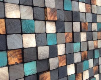Abstract Wall Art Reclaimed Wood Wall Sculpture by WallWooden