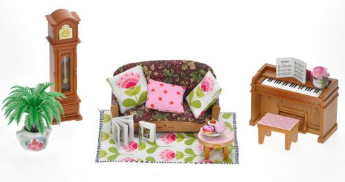 sylvanian families cute decorated living room lounge set for house - Sylvanian Families Living Room Set