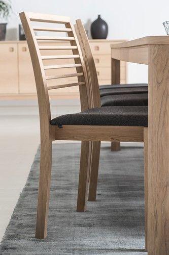 Läsö stolar/stol - Vitoljad ek och tyg Touche - Svenska Hem
