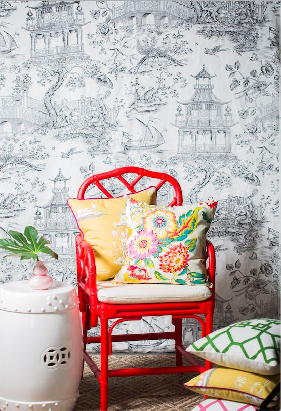 Add Far East flair to your favorite spot in your house with Loom Decor's chic chinoiserie accessories. Customize pillows, poufs, window treatments, and more in your favorite Asian print.