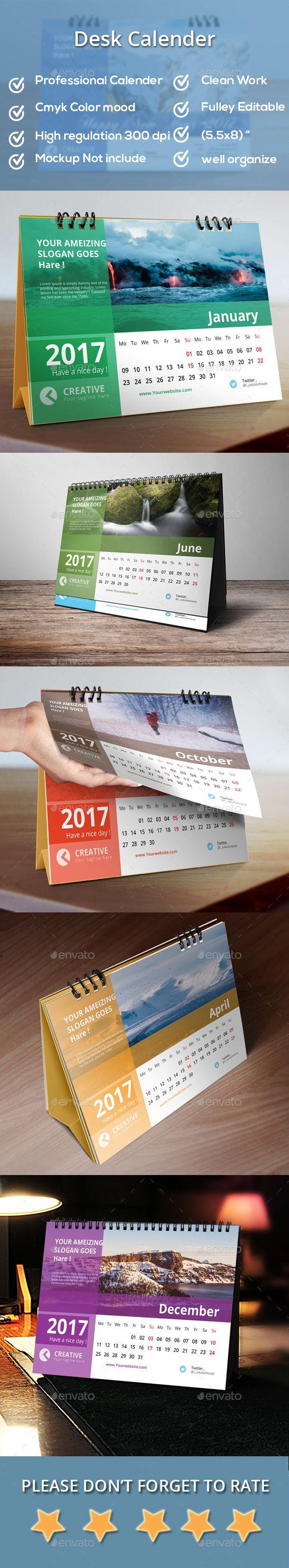 Desk #Calendar 2017 - Calendars Stationery