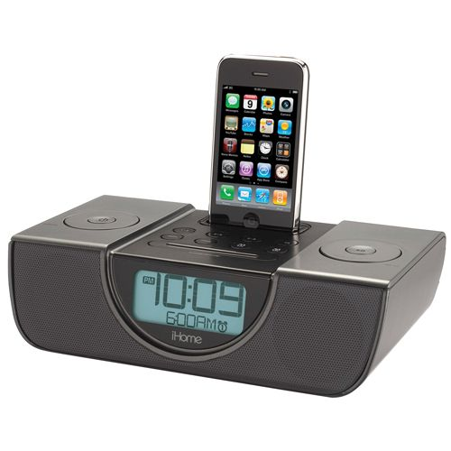 (click twice for updated pricing and more info) iHome Speakers iPhone & iPod - iP42 Clock Radio for iPod -iPhone - Gunmetal Gray #iphone_accessories http://www.plainandsimpledeals.com/prod.php?node=41705=iHome_Speakers_iPhone_&_iPod_-_iP42_Clock_Radio_for_iPod_-iPhone_-_Gunmetal_Gray_-_6599-CTBK