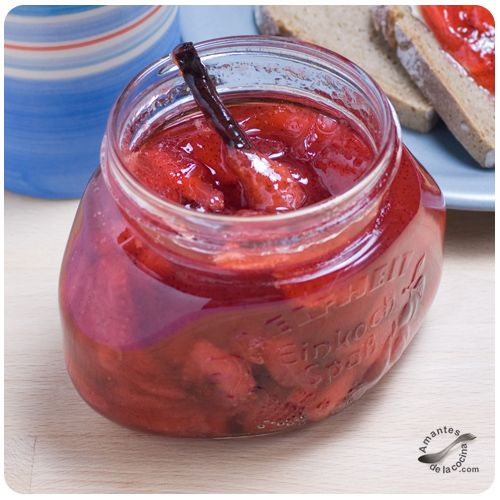 Mermelada de fresa y vainilla 2