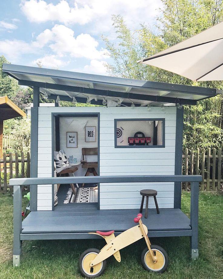 Marvelous DIY Garden Playhouse Garten Spielhaus