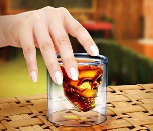 iseymi Creative crâne de cristal en verre a bière tasse double épaisse crâne Verres à Whisky en verre pour vin rouge Tasse isotherme,…