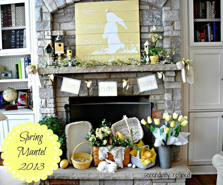 Easter mantel /Spring+Peter+Cotton+Tail+bunny+pallet+reclaimed+wood+bird+house+mantel+decor+yellow+flowers+baskets+butterflies+title.jpg