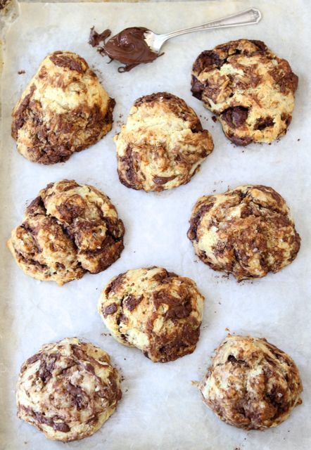 Nutella Drop Biscuits-easy biscuits swirled with Nutella from www.twopeasandtheirpod.com #recipe #Nutella