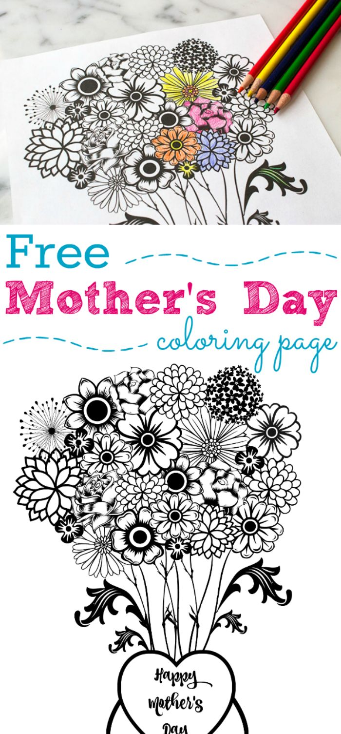 Mothers day bible coloring pages - Mother S Day Printable Coloring Page Mother S Day Flower Printable And Coloring Page Is Perfect Gift