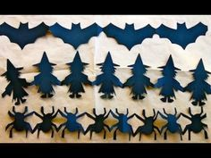 How to make Halloween paper chain decorations