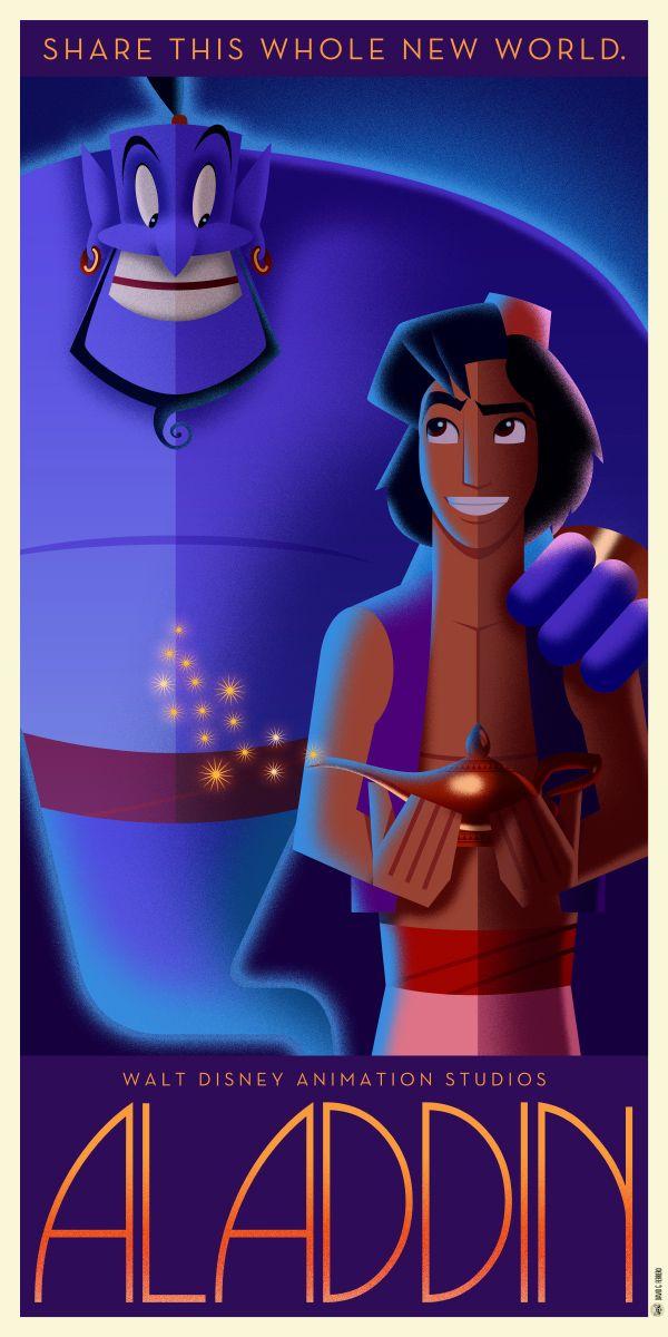 Aladdin Art Deco poster by Chernin.deviantart.com on @DeviantArt