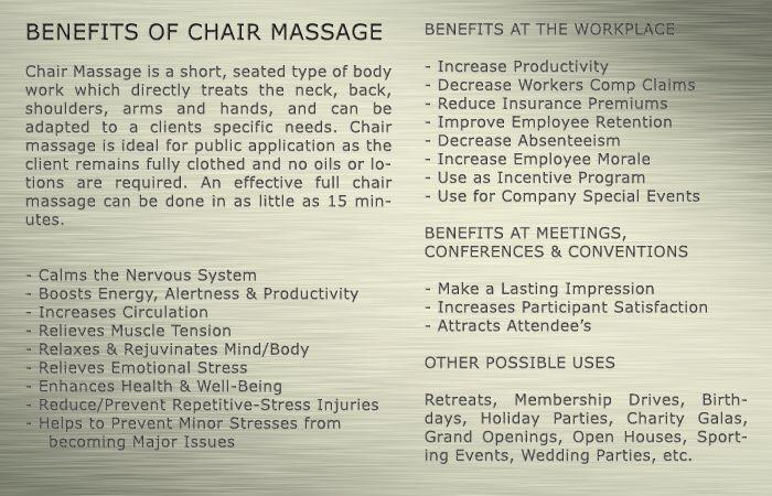 Chair Massage Benefits  Massage Therapy    Massage