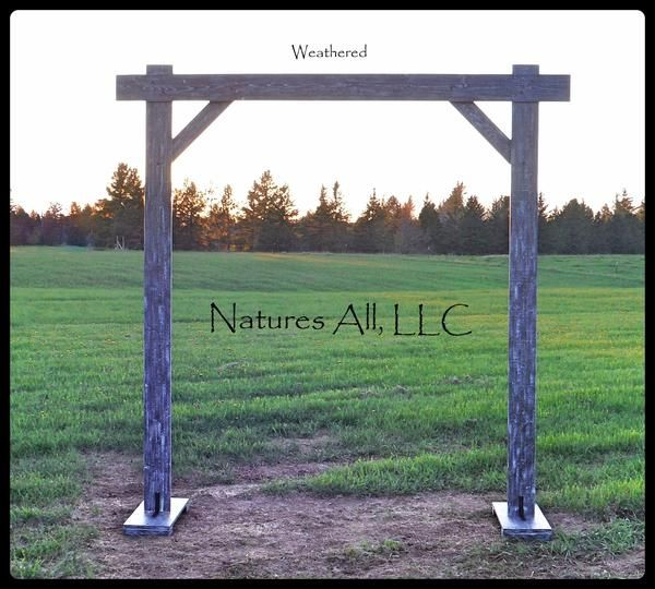Rustic Country Wedding Arch/Compete Kit For Indoor Or Outdoor Weddings/Weathered Gray!