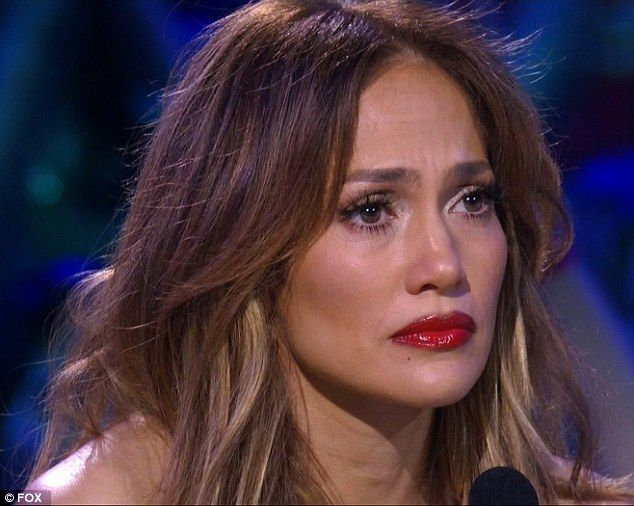 Feeling it: Jennifer Lopez also was moved by the song about the unconditional love of Kell...