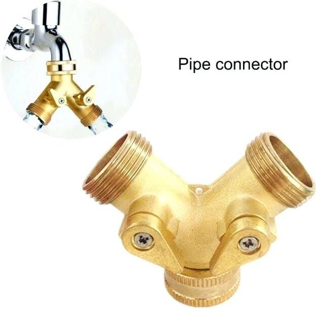faucet splitter lowes brass y splitter