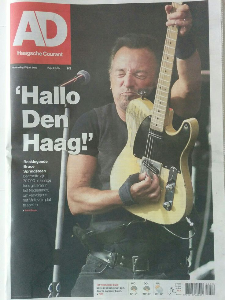 June 14th 2016: Bruce Springsteen concert in the Hague. 70.000 fans attended and I was there too. What a show.