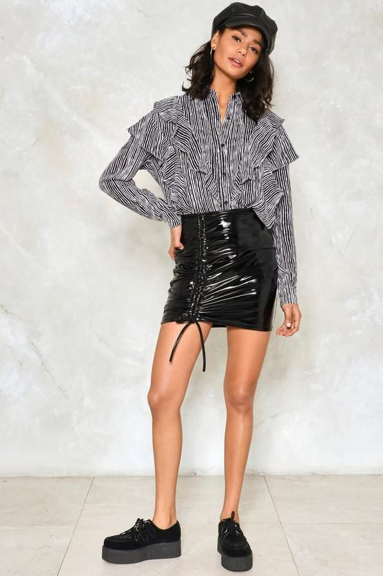 You Can't Hurry Love Vinyl Skirt