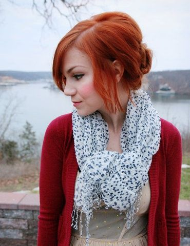red hair, red cheeks