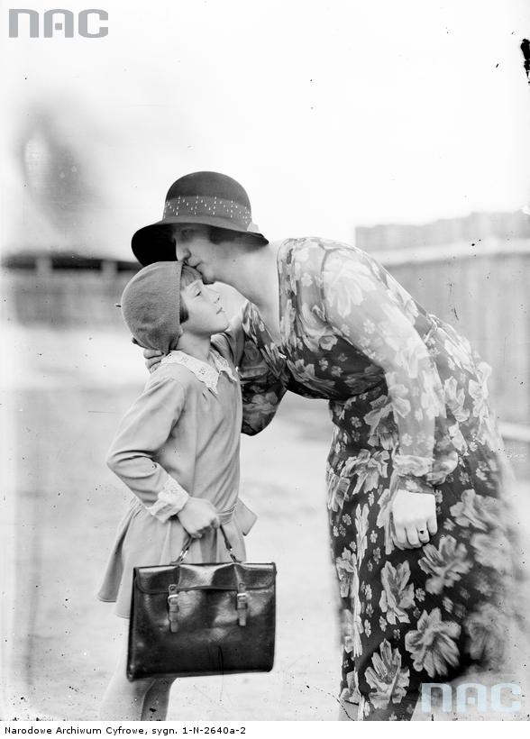 First day in school, 1930.