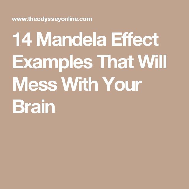 14 Mandela Effect Examples That Will Mess With Your Brain
