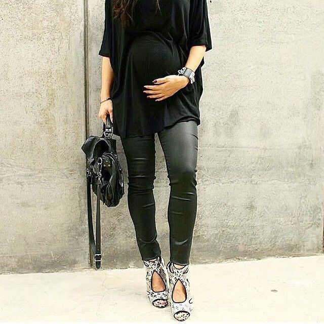 HOW do these pregnant ladies wear heels?! ... Love this!