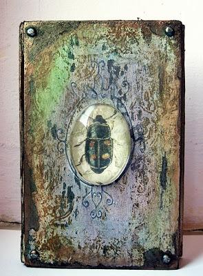 """Altered book by Siwqa with """"el bahia"""" 3rd Eye stamp <3 http://3rdeyecraft.com/"""