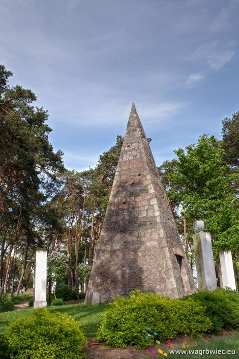 Wągrowiec, Poland - The Pyramid and the Spirit of Captain Łakiński - a reminder of one of the heroes of the era of Napoleon. It is a stone pyramid several meters. Just like the pyramids of Egypt !