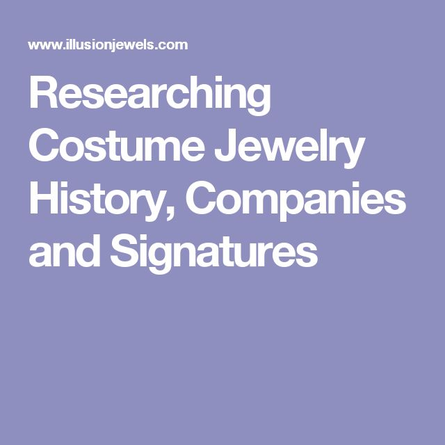 Researching Costume Jewelry >> Researching Costume Jewelry History Companies And Signatures