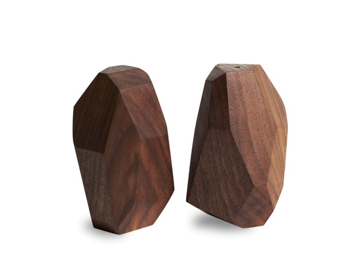 Walnut Salt + Pepper Shakers
