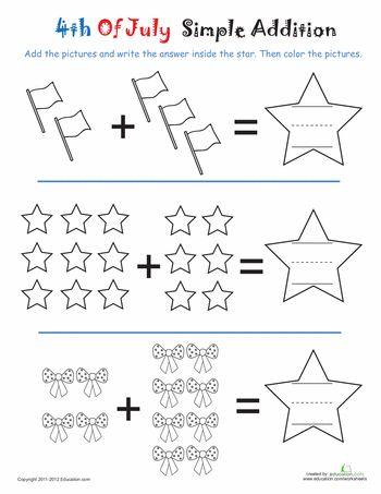 Fourth of July, Worksheets and Have fun on Pinterest