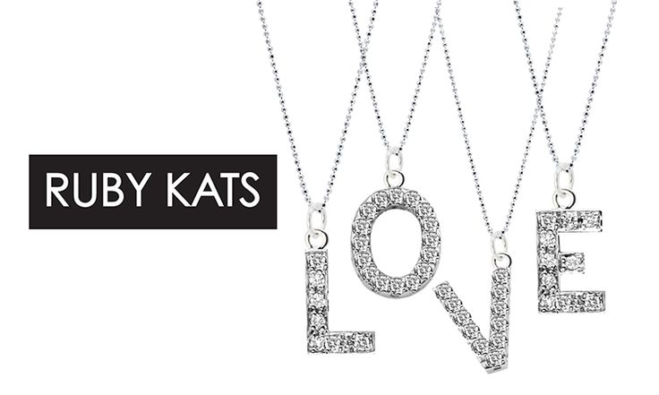 Let your signature style shine in this pavé diamond Initial charm necklace by Ruby Kats! Shop now on http://chictreat.com