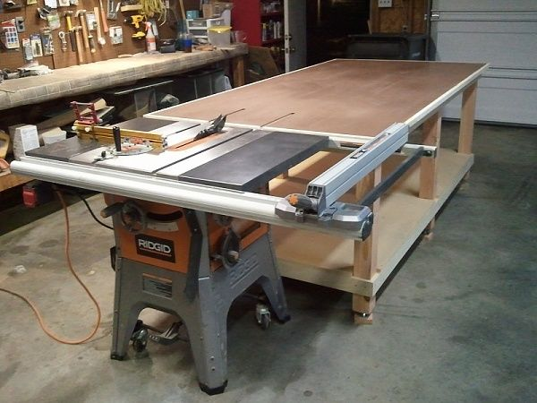 My 4x8 Rolling Work Bench Outfeed Jpg Assembly Table