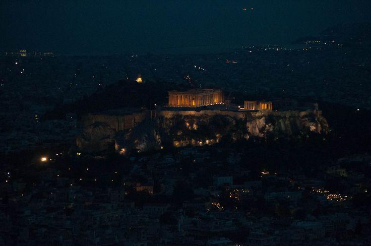 Notturno dell'Acropoli vista dal Licabetto