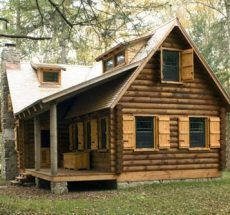 I want a log cabin home.: