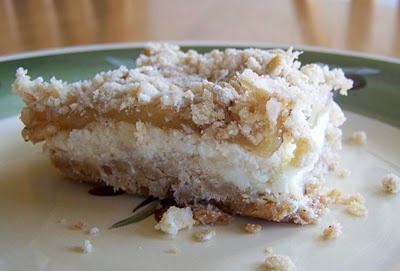 Apple Streusel Cheesecake Bars | Yummy Food | Pinterest