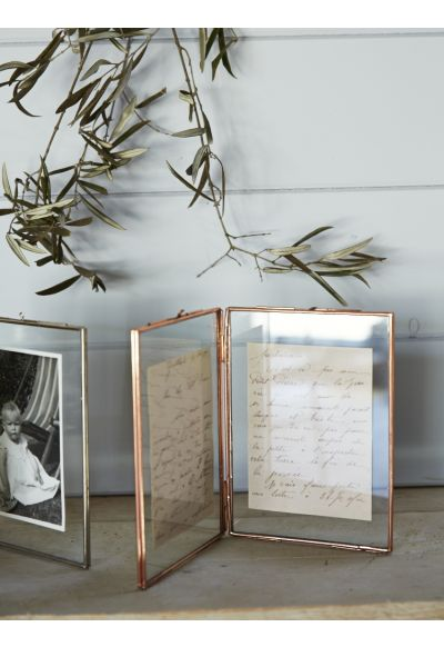 Hinged Glass Frame - Copper - Decorative Home - Indoor Living