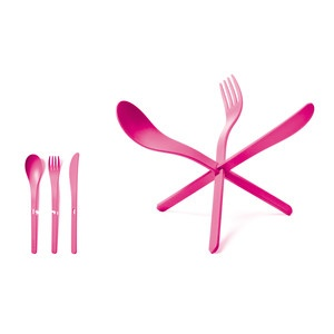 JOIN Cutlery Pink Set Of 4, $38, now featured on Fab.