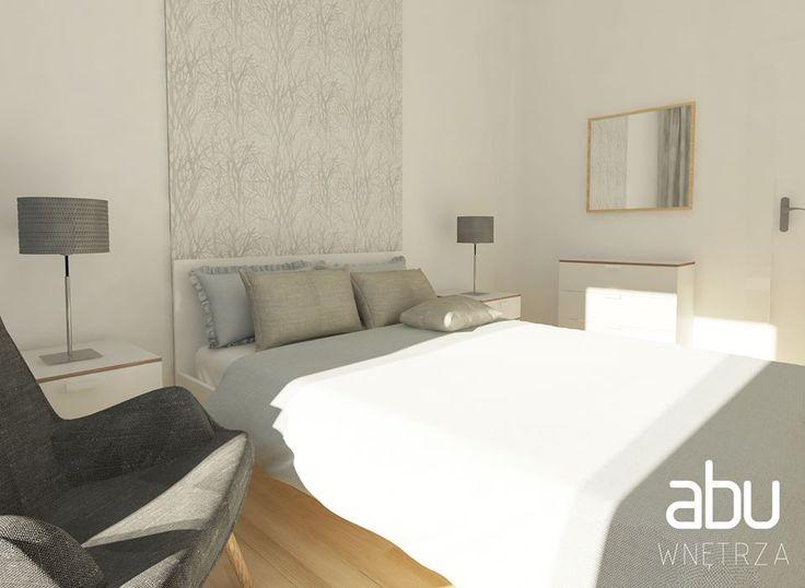 bedroom, scandinavian style, Wilanów