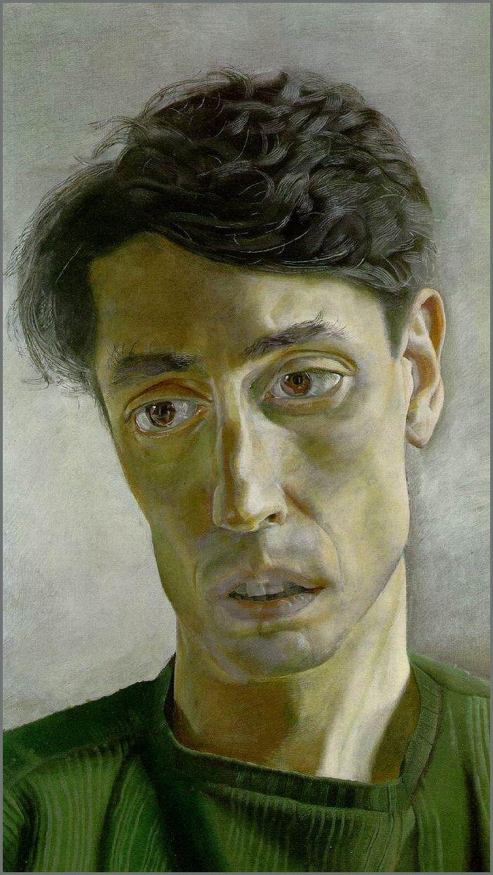 Portrait of John Minton by Lucien Freud