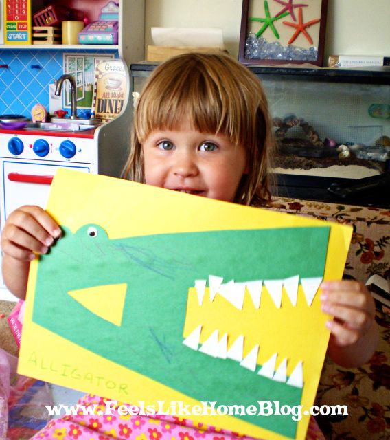 Sometimes, you have to go with the flow and let your kids be wrong: A is for Crocodile